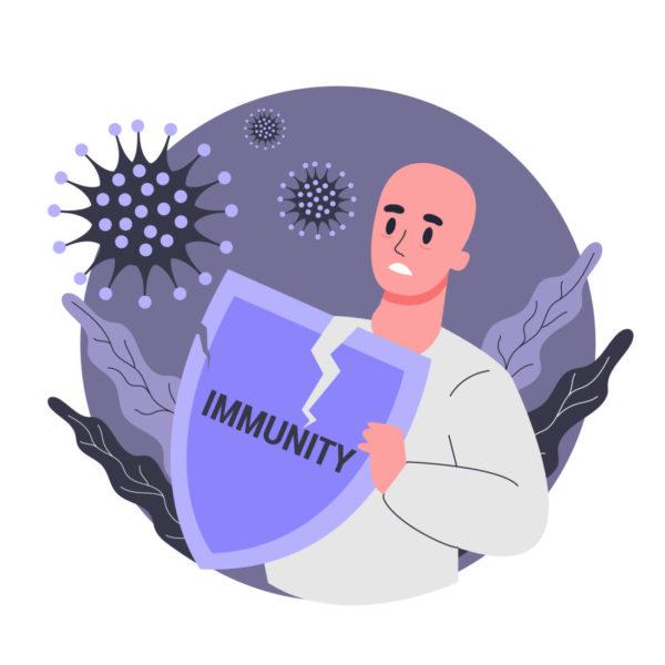 Pessoa Segurando Um Escudo, No Qual Está Escrito Imunidade, Contra O Coronavírus