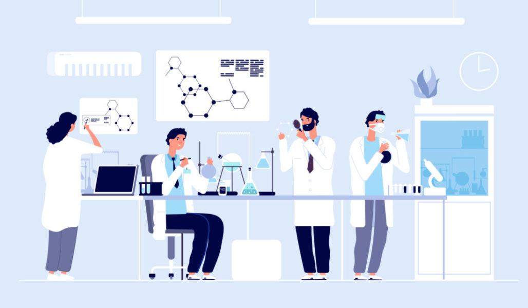 Profissionais Da Saúde Investigando DNA Para Estudar A Síndrome Mielodisplásica Infantil