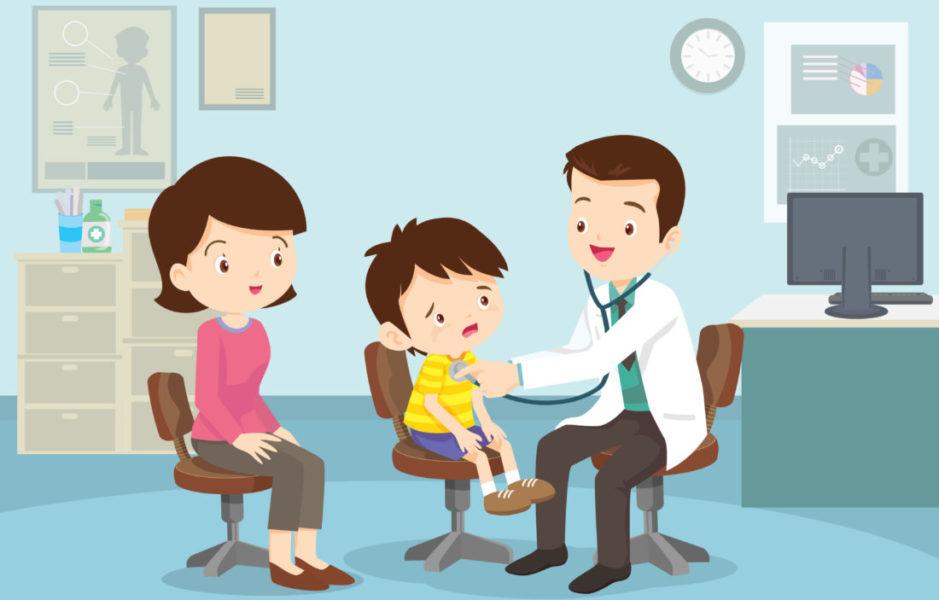Criança Com Síndrome Mielodisplásica No Médico