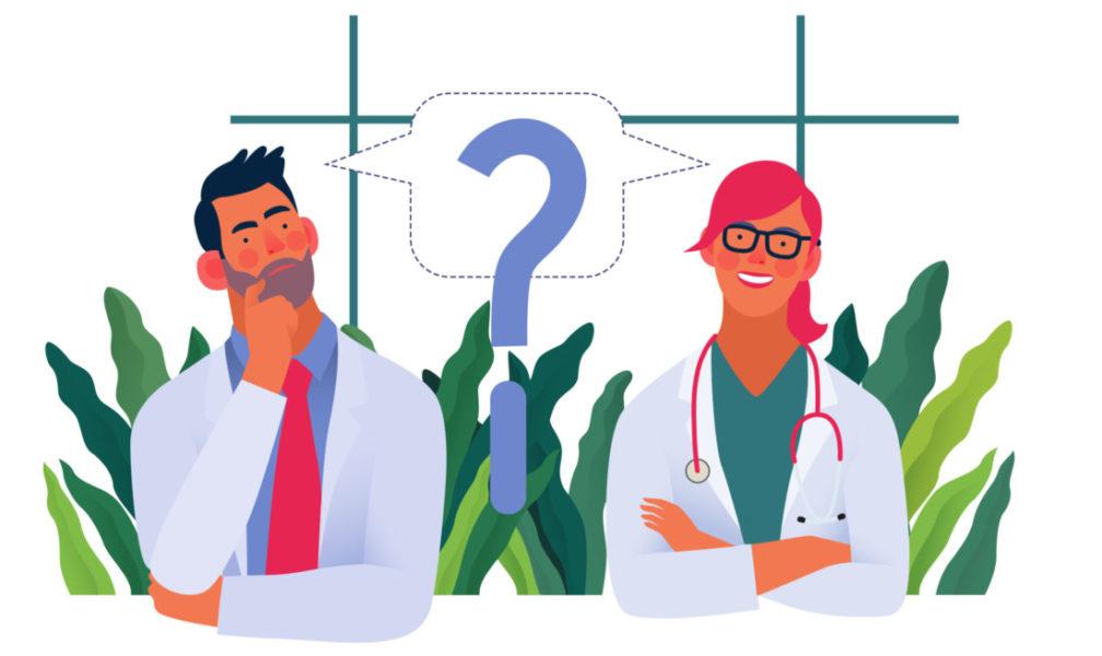 Dois Médicos Conversando E Trocando Opiniões