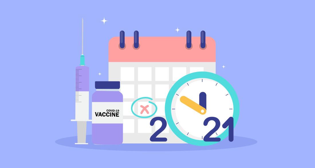 Calendário Indicando O Dia De Tomar A Segunda Dose Da Vacina