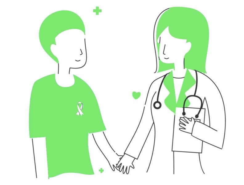 Paciente E Profissional Da Saúde Felizes