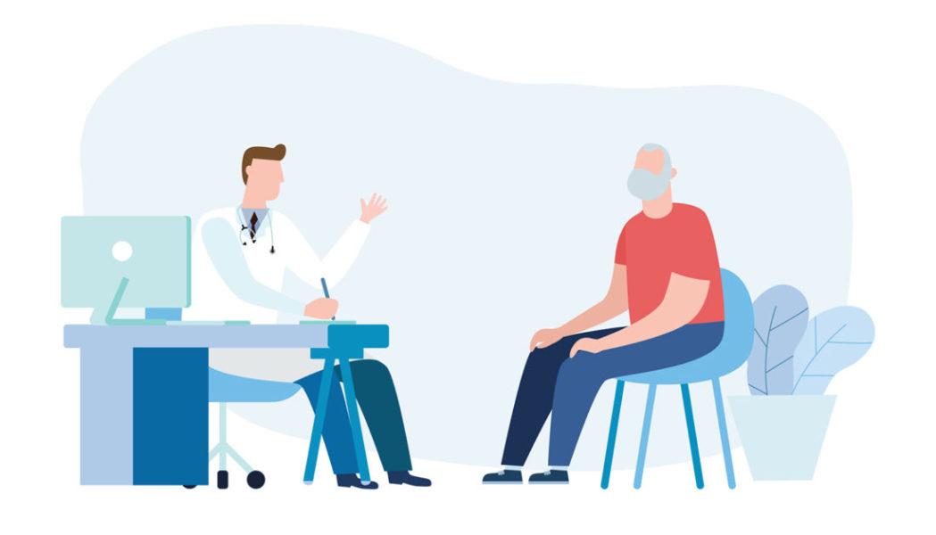 Homem Conversando Com Médico Sobre Sexualidade E Câncer