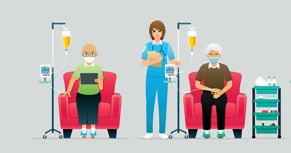 Idosos Fazendo Quimioterapia Como Tratamento Para Lma