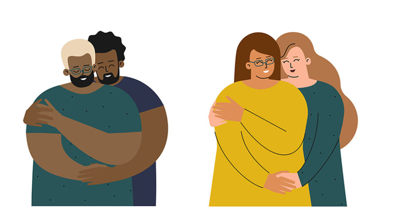 Casais Se Abraçando