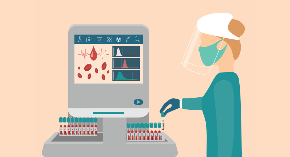 Profissional Da Saúde Analisando O Sangue Para Tipagem Hla