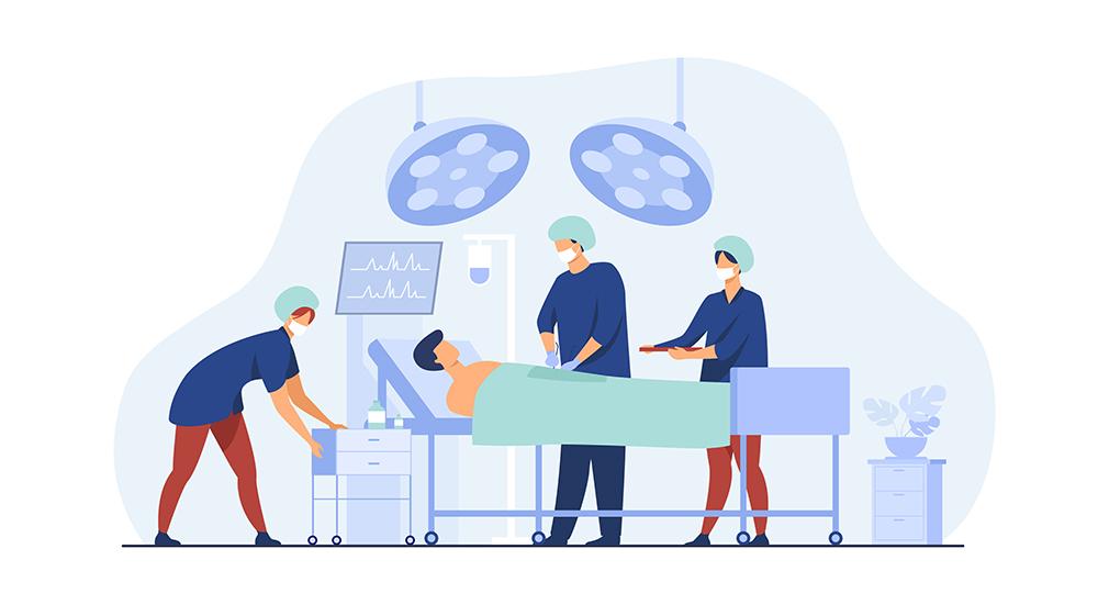 Médicos Fazendo Cirurgia Para Linfoma No Pescoço